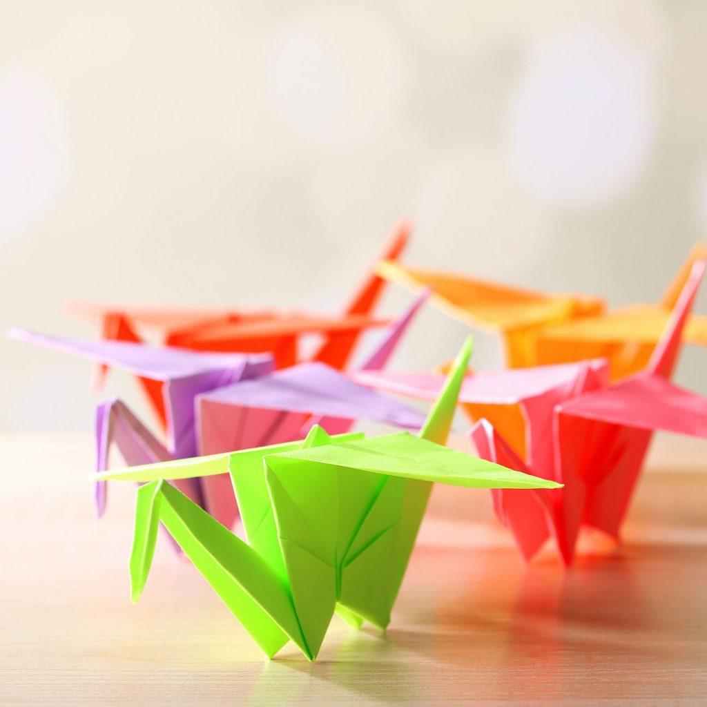 Make origami cranes to donate