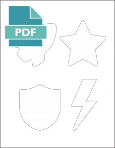 pdf Superhero Icon printables.