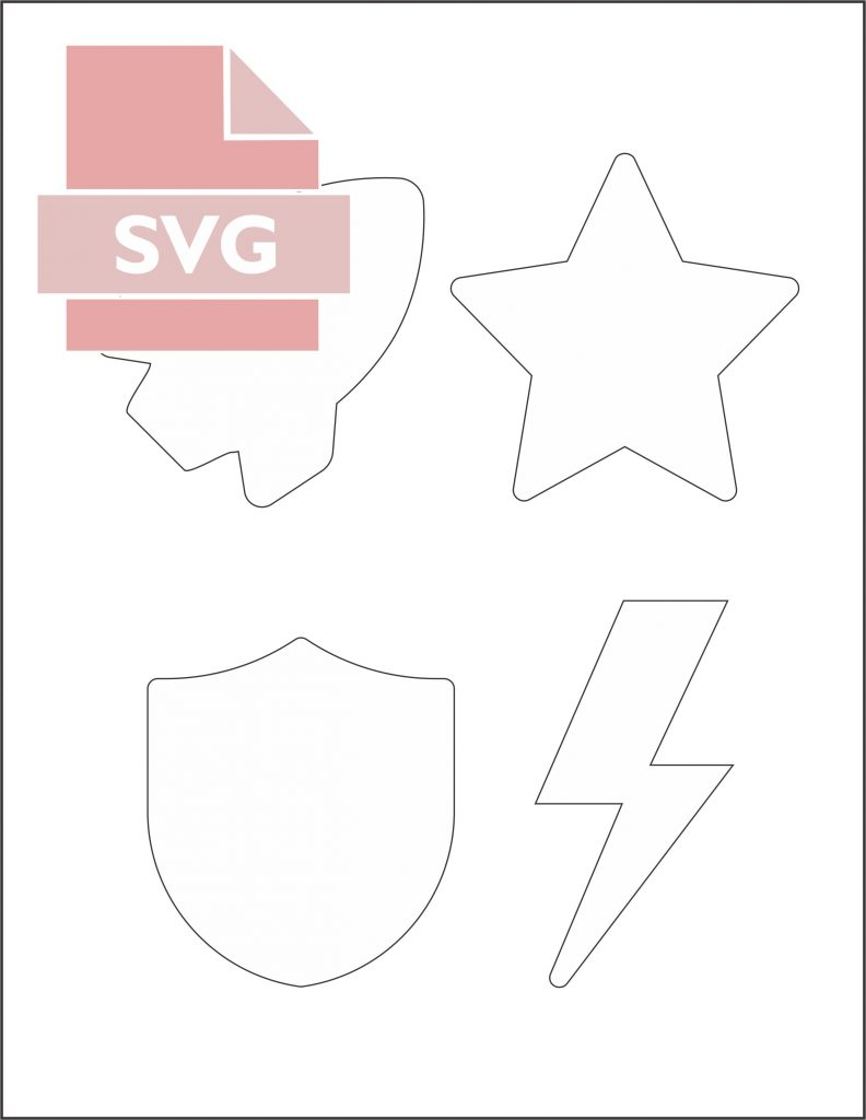 SVG file for superhero Capes