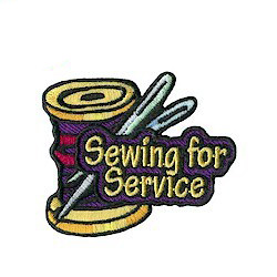 Sewing for Service Girl Scout Patch