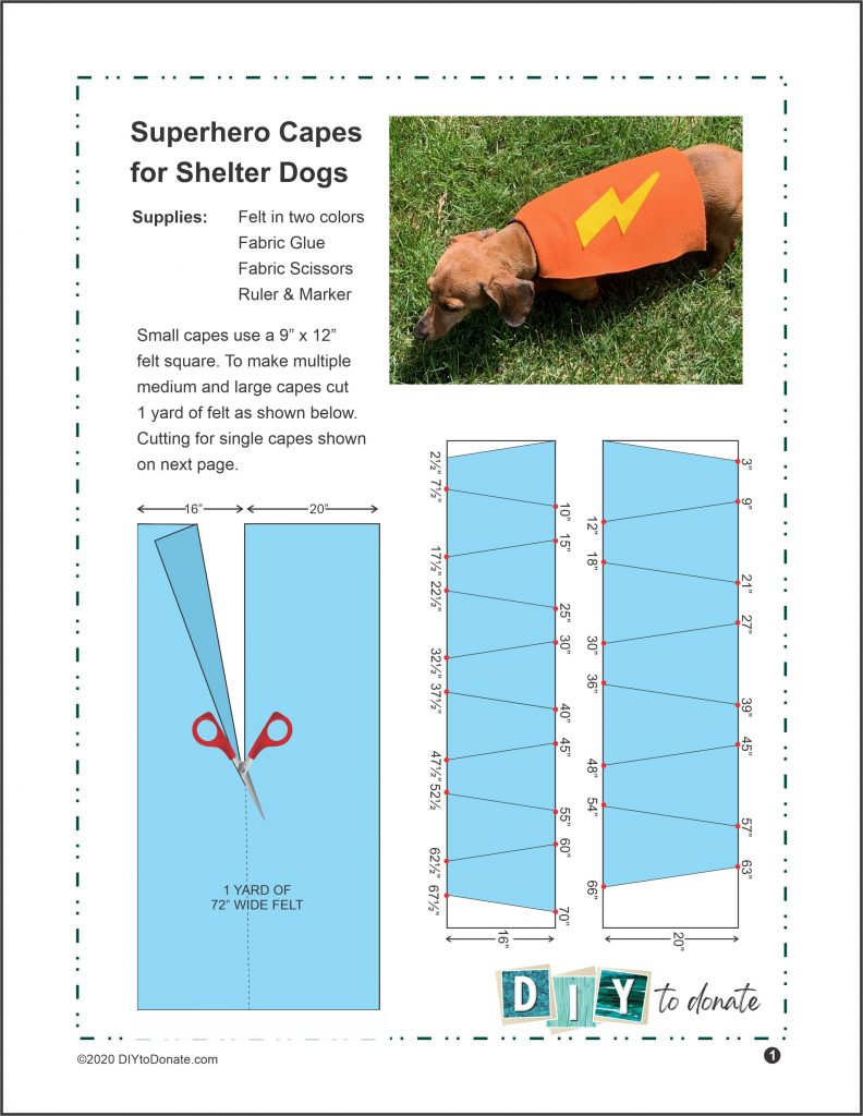No-Sew Capes for Dogs PDF Instructions