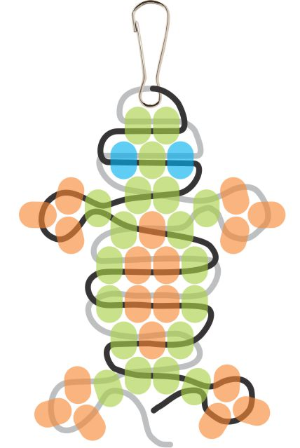 Beaded Gecko Step 10