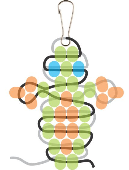 Beaded Gecko Step 9