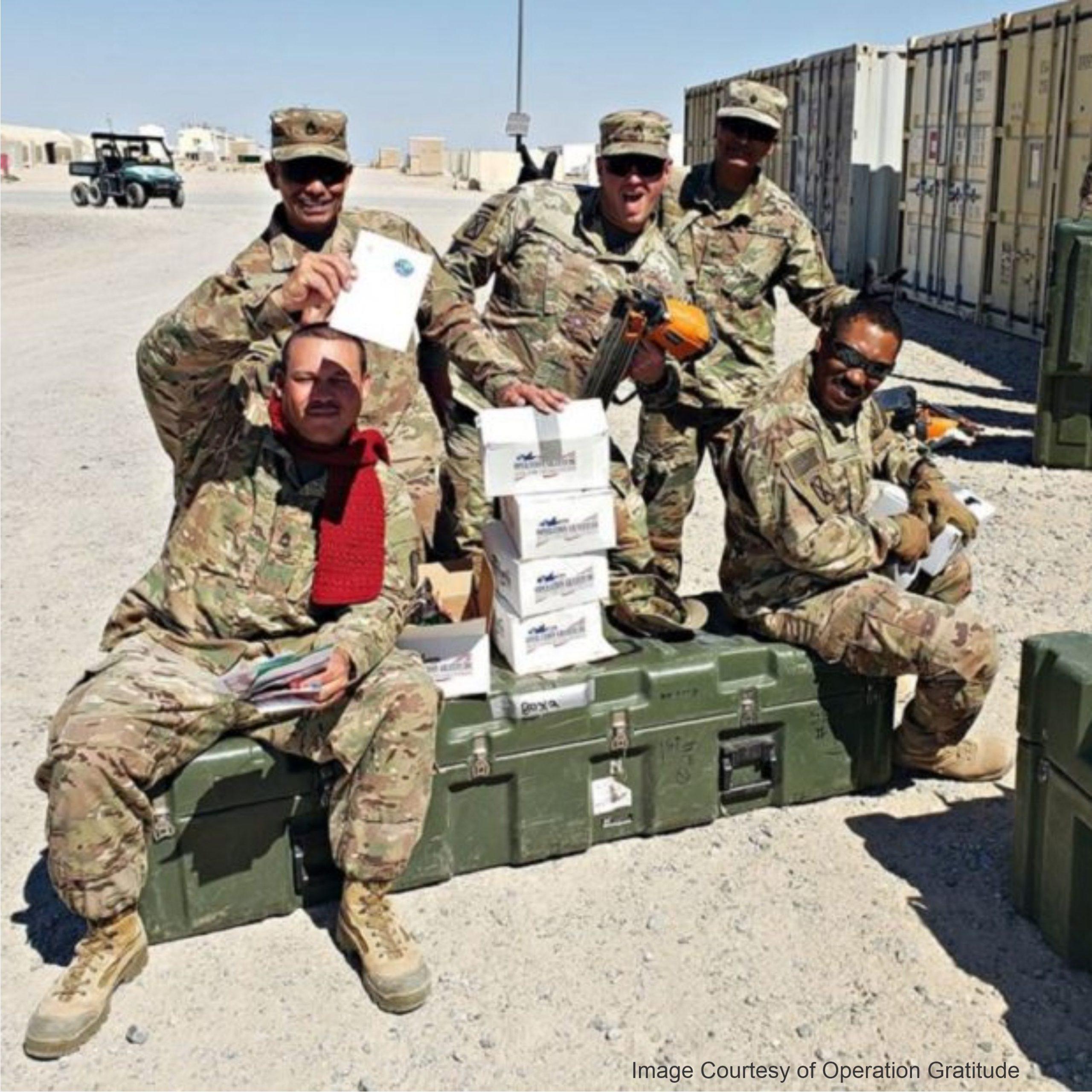 Where to send handmade items to the military