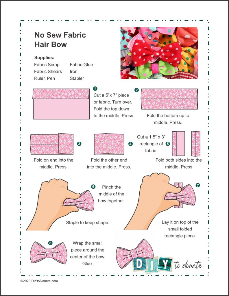PDF Project Sheet for No-sew Box