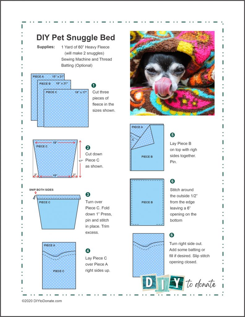 PDF Instructions for making a snuggle bed.