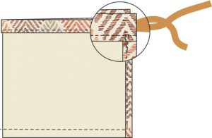 drawstring bag step 5