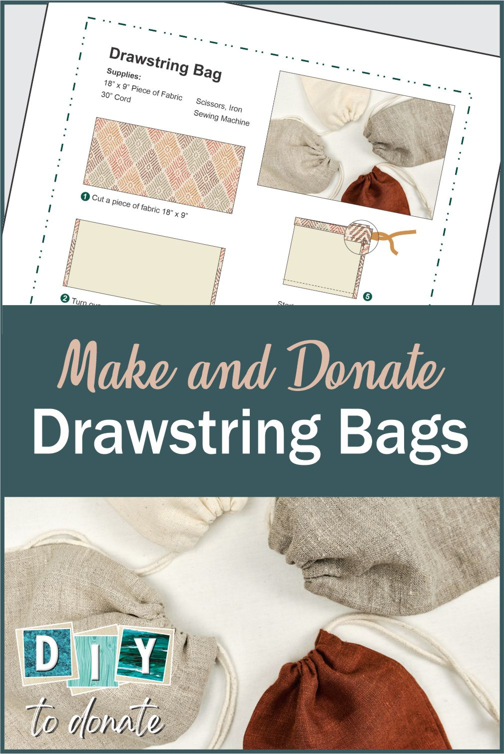 Operation Gratitude includes easy to make drawstring bags to the care packages they send to deployed soldiers. Useful for our troops personal items. #diytodonate #diy #supportourtroops #Militarytroops #military #deployed #carepackages #handmade #soldiers #giveback #service