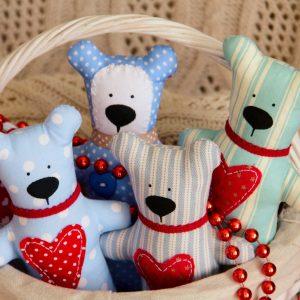 Homemade Fabric Bears to Donate