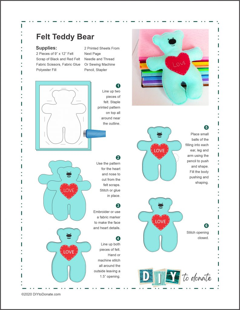felt teddy bear pdf