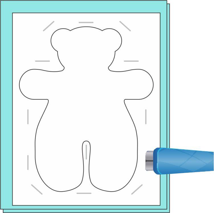 Easy Teddy Bear Step 1