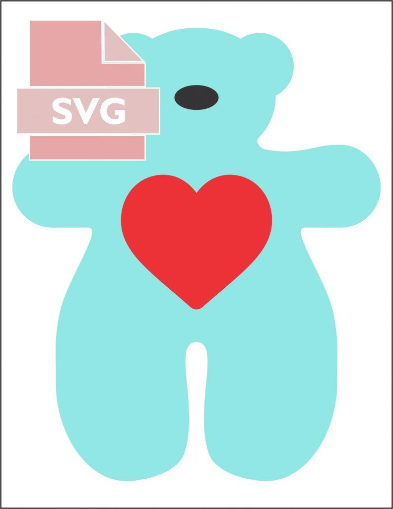 Easy Teddy Bear SVG File