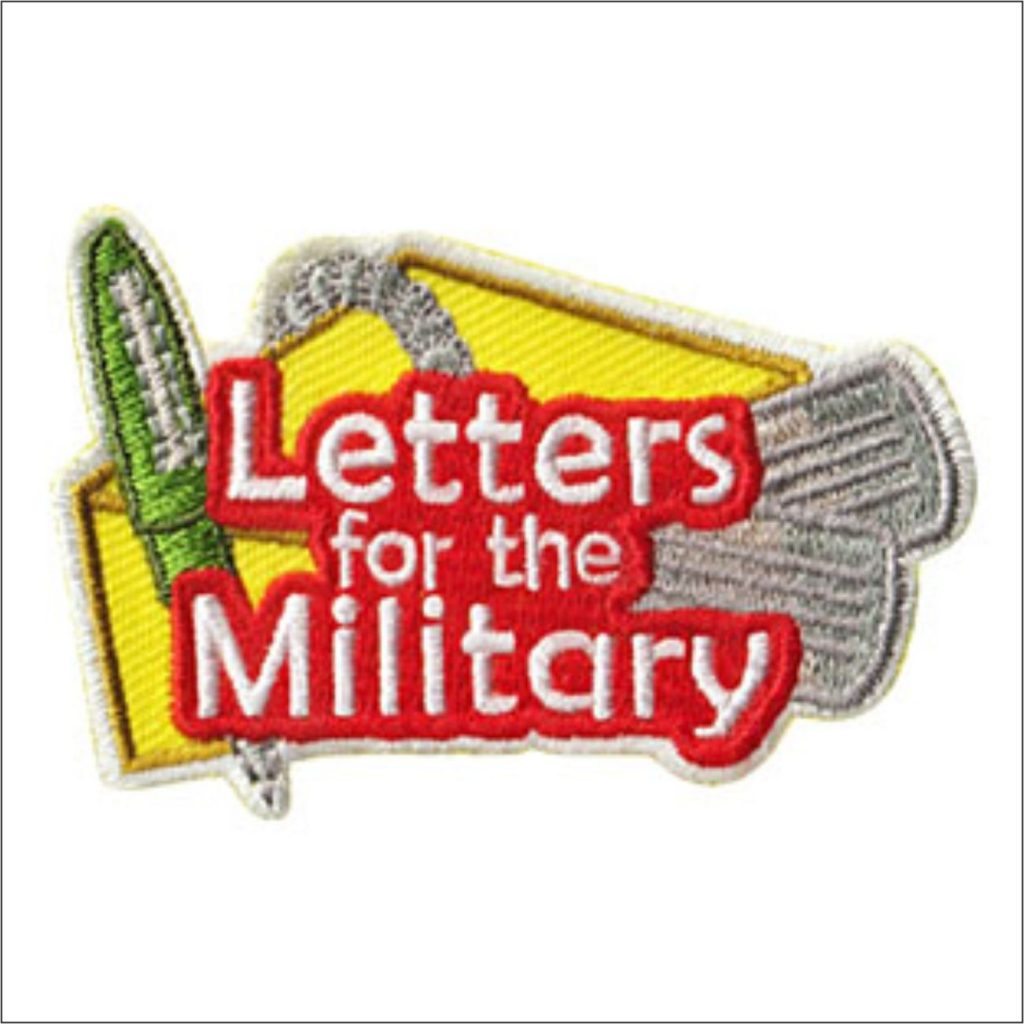 Letters to Military Girl Scout Patch