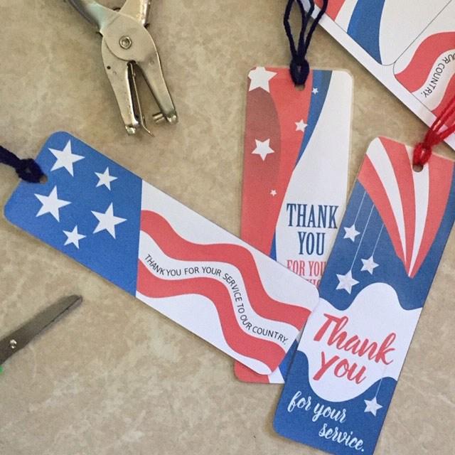 Make Patriotic Bookmarks to Donate