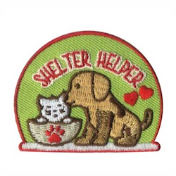 Shelter Helper Girl Scout Patch