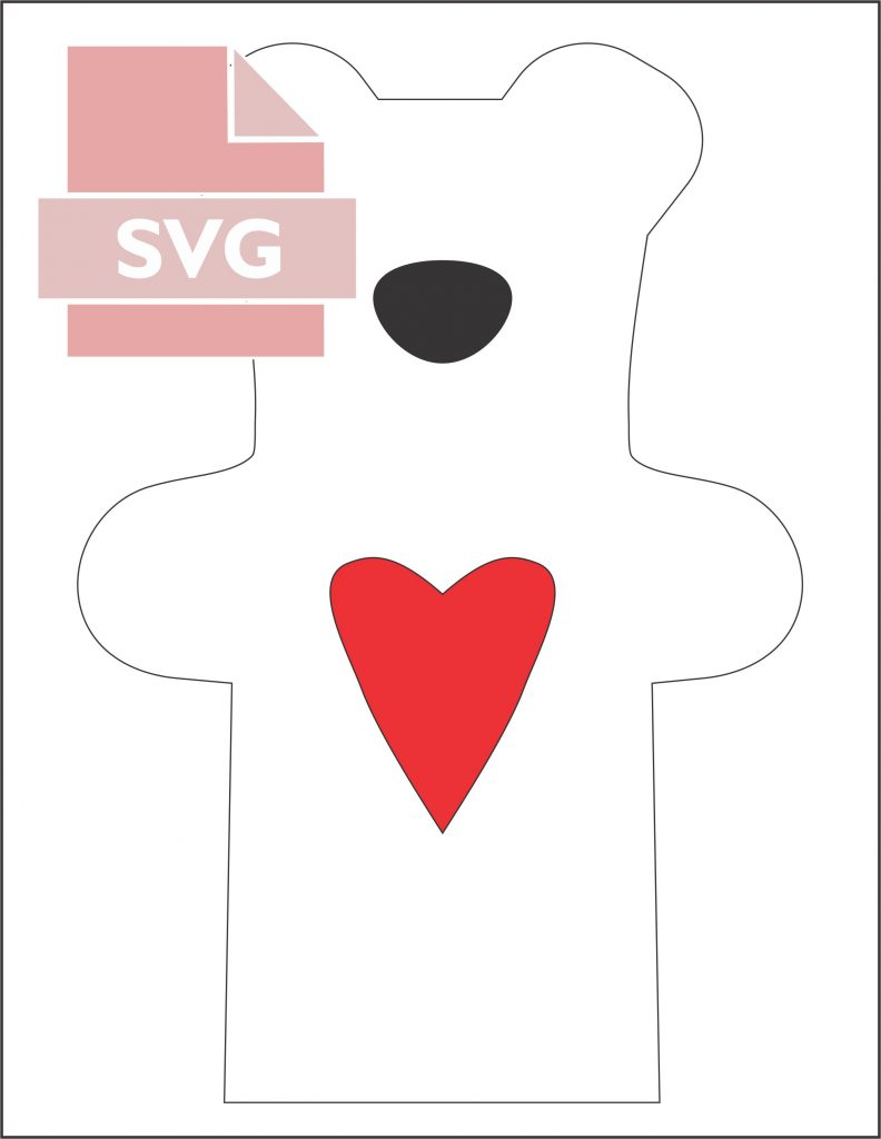 svg file for teddy bear