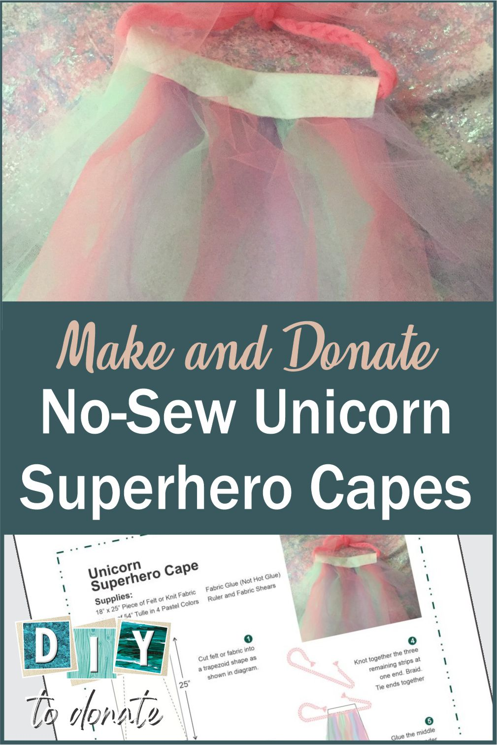 When you make a unicorn superhero cape and give it to a little girl it has the power to make her feel that anything is possible. #diytodonate #unicorns #magic #unicornmagic #unicorncape #diy #donate #giveback #powerful #girlpower #anythingispossible #believe