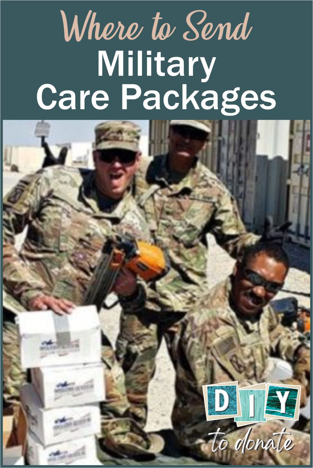 Our military men and woman make great sacrifices so we can continue to enjoy the freedom that is uniquely American. When you make and donate handmade items you are sending a message to our deployed troops that you appreciate what they do. #diytodonate #carepackages #military #militarycarepackages #heroes #miltaryheroes
