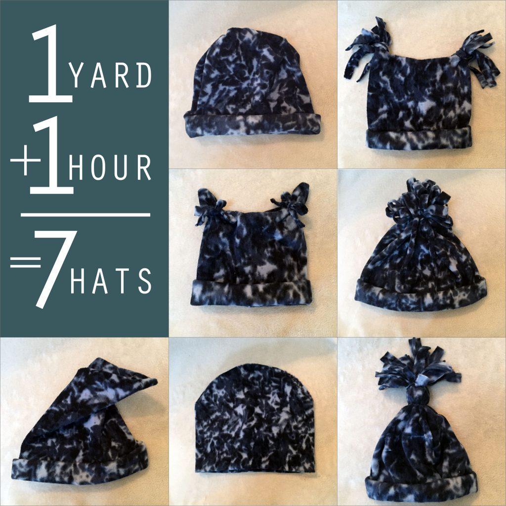 Make and Donate Fleece Hats