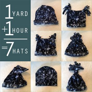 Make and Donate Fleece Hats