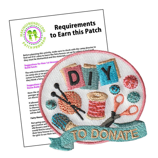 diy to donate patch