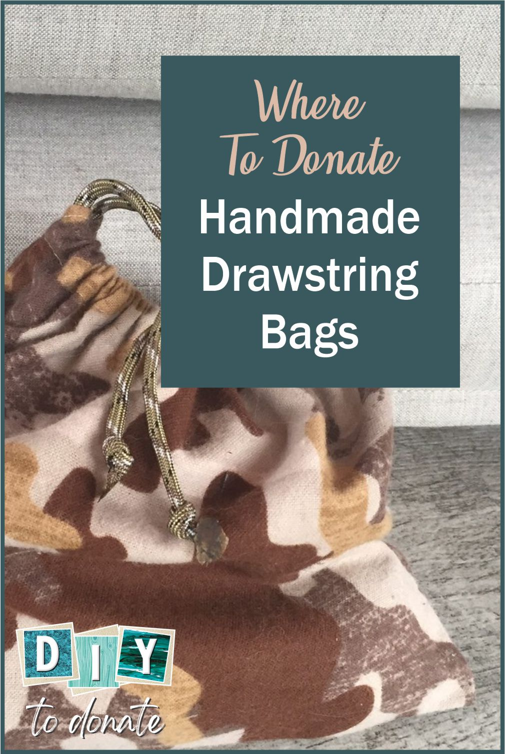 Our soldiers usually don't have much space to keep their small personal items. Handmade drawstring bags are the solution. #diytodonate #diy #bags #drawstringbags ##donate #giveback #helpers #community #communityservice #handmade