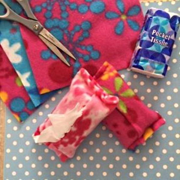 DIY Fleece Tissue Holder