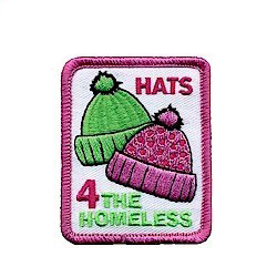 Hats for the Homeless Girl Scout Patch