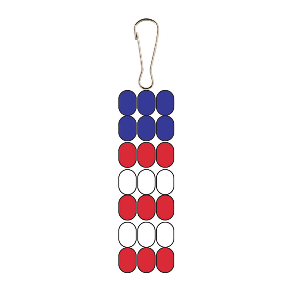 DIY Patriotic Keyring Decoration Step by Step
