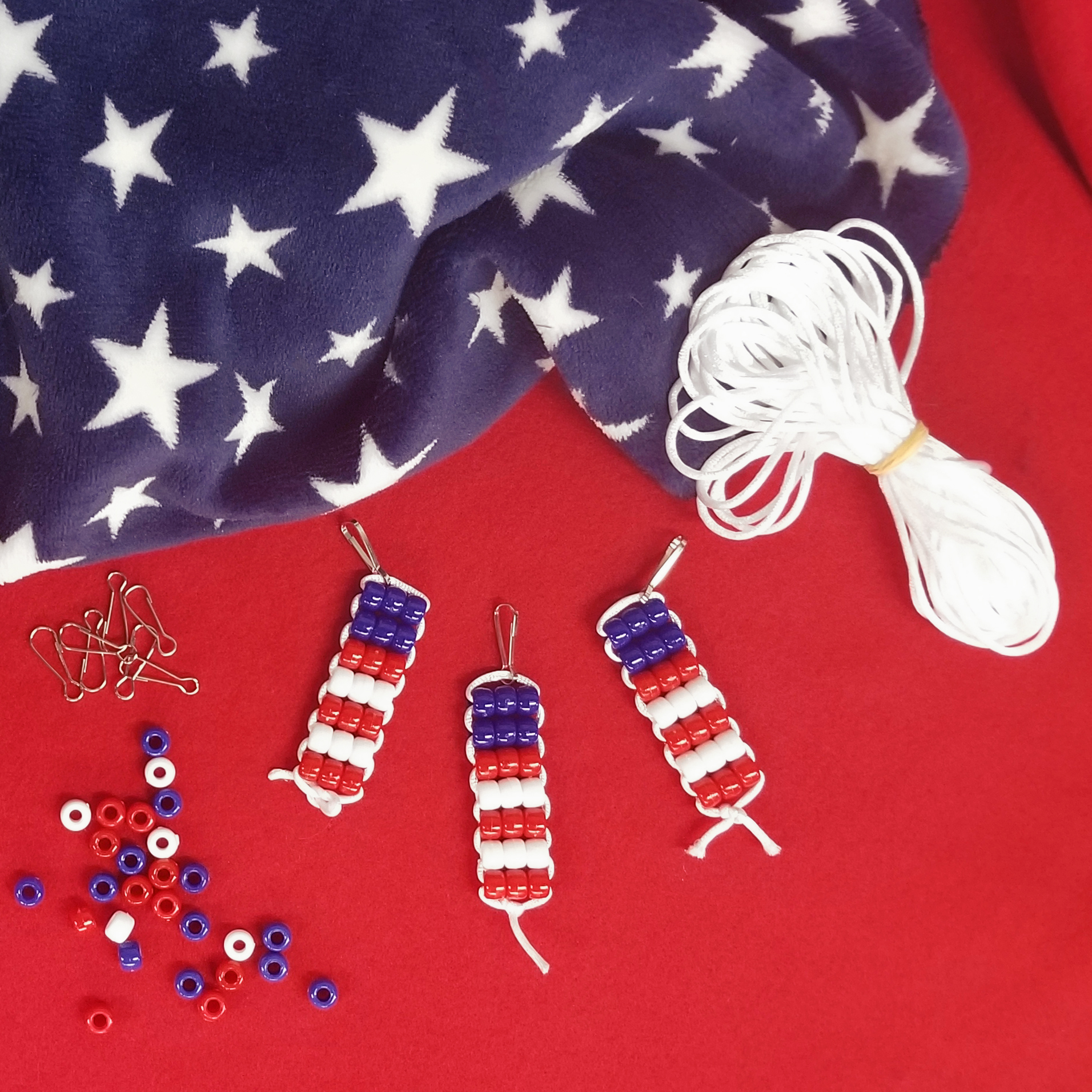 DIY Patriotic Keyring Decoration