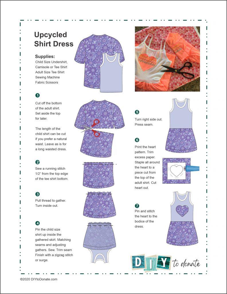 Upcycled Tee Shirt Dress PDF