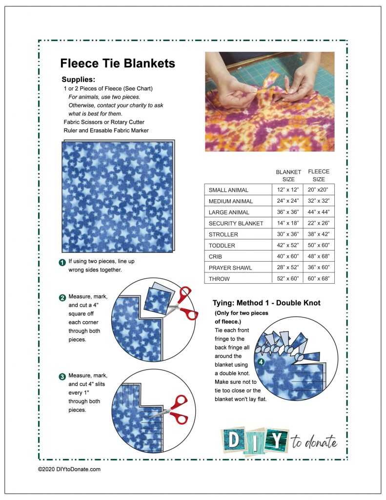 4 Ways to Make Fleece Tie Blankets