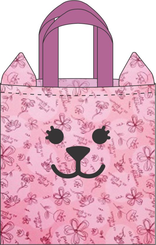 DIY cat face tote bag instructions