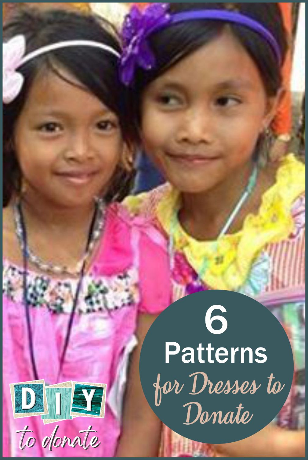 6 easy (and cute!) patterns to make little dresses to donate. One organization even gives you the supplies! #diytodonate #donate #handmade #dressestodonate #diy #handmadedressess #giveback #cutedresses
