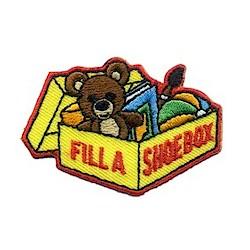 Girl Scout Fill a Shoebox Patch