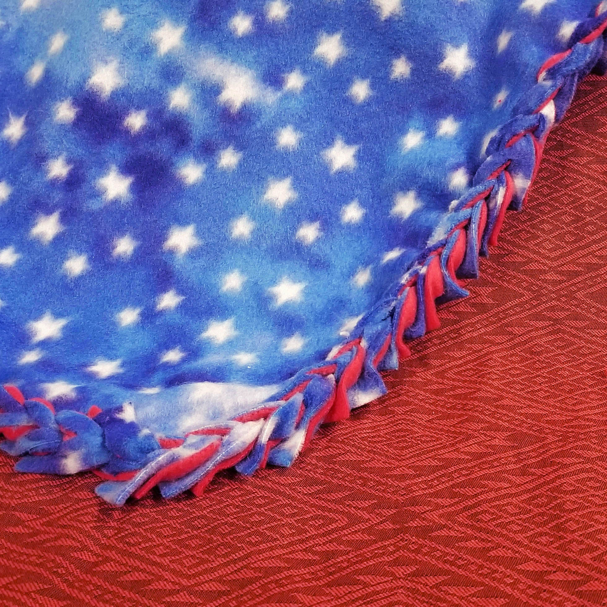 Patriotic Fleece Tie Blanket