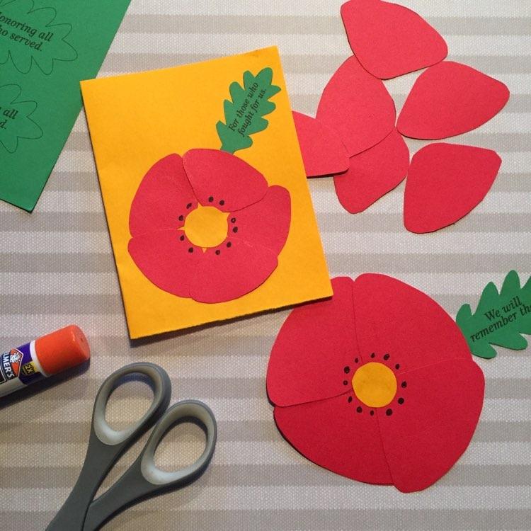 Poppy kids craft for Veterans