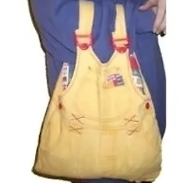 Free Kids Crafts Recycled Overalls Bag