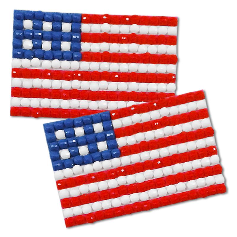 diamond painting flag pins