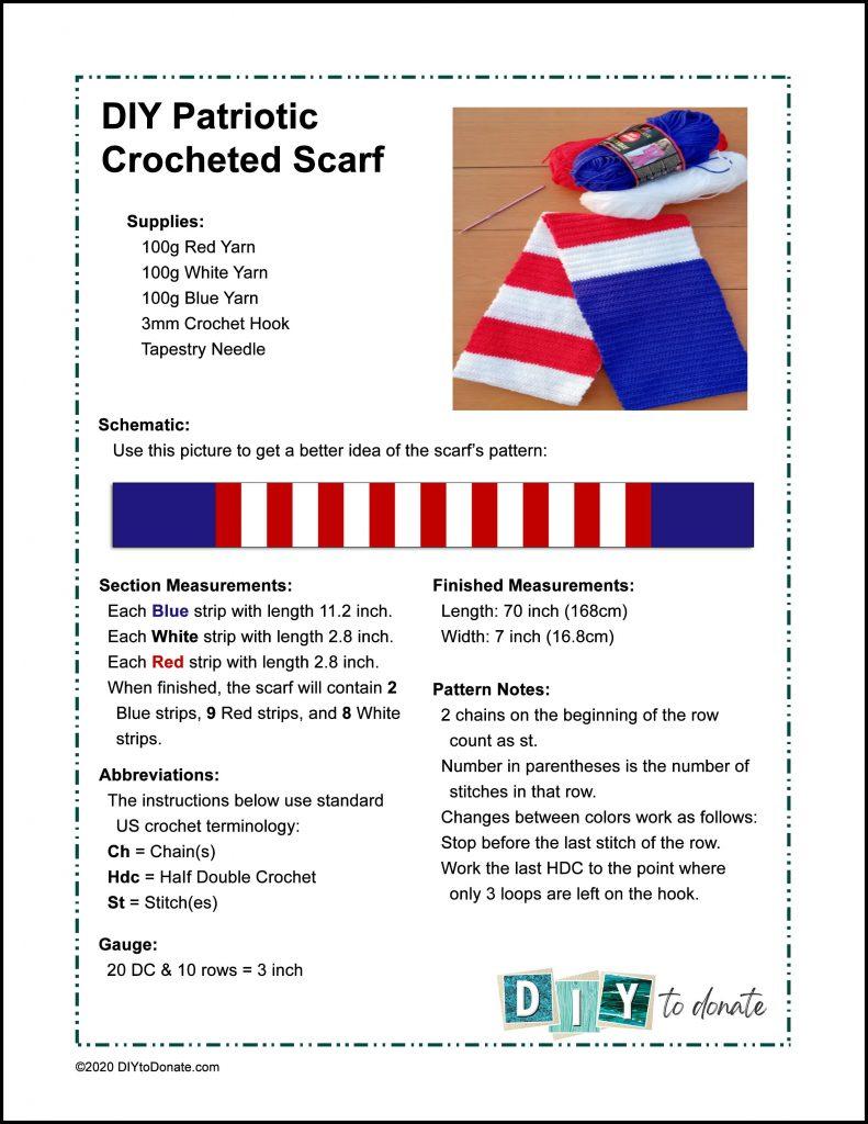 crochet a patriotic scarf